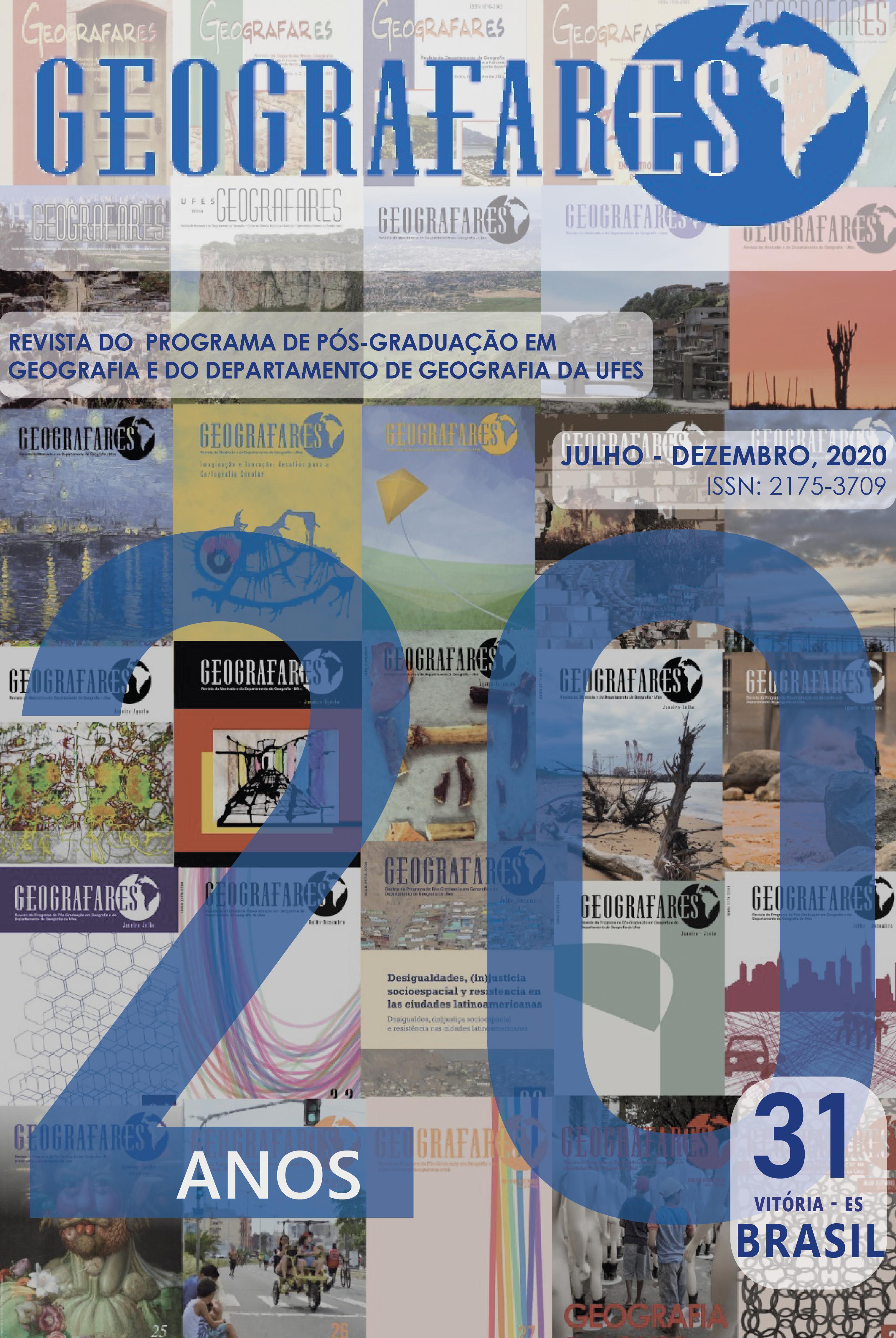 Visualizar n. 31 (2020): Geografares| Número 31 | Julho - Dezembro de 2020