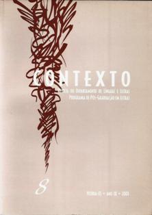 Visualizar n. 8 (2001): Contexto: Revista do Departamento de Línguas e Letras/Programa de Pós-Graduação em Letras