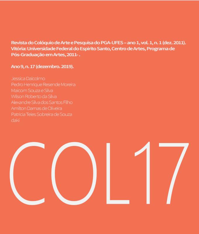 Imagem de Capa. Referência completa da edição da Revista em letras menores e, em letras maiores, COL17.