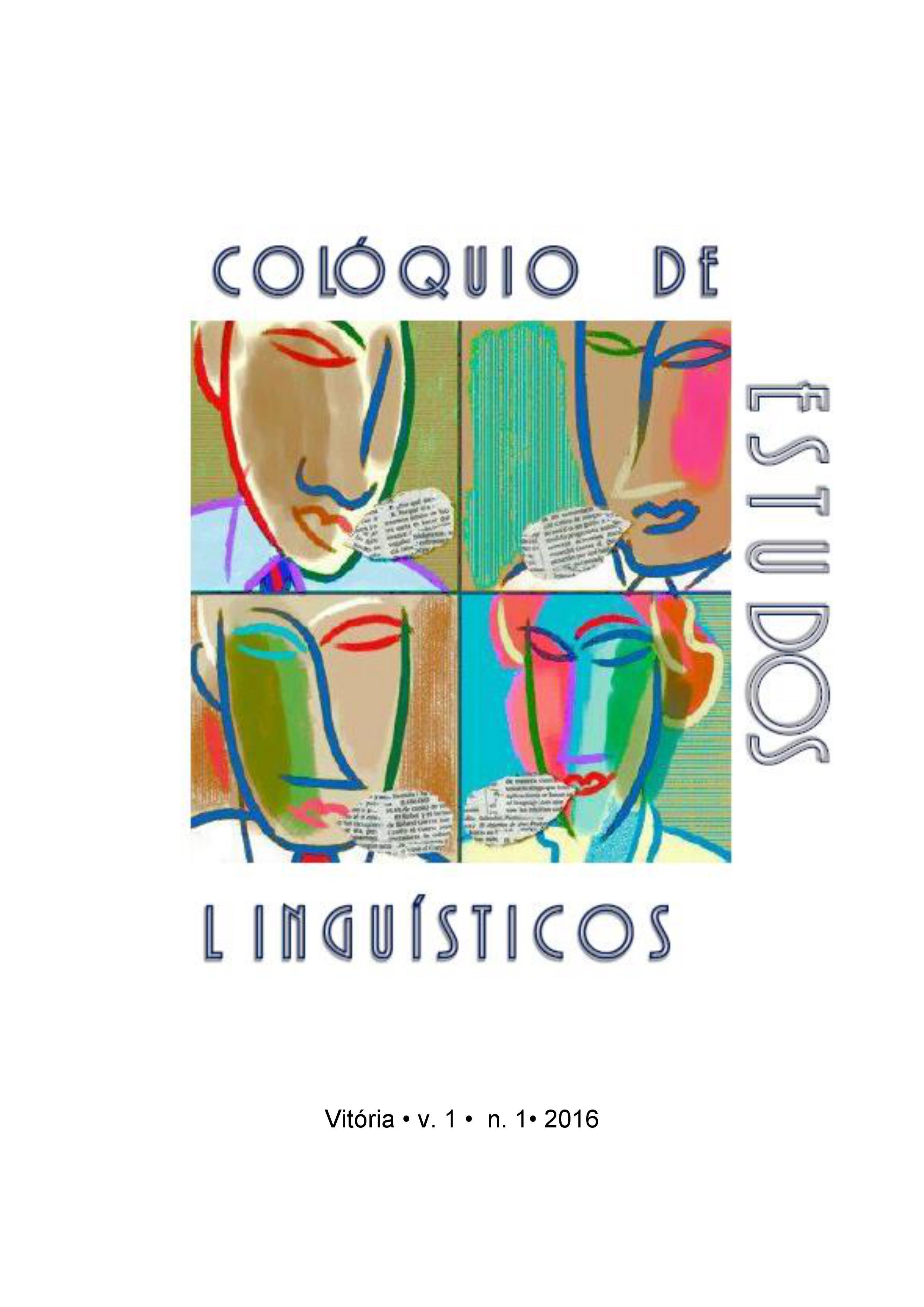 Visualizar v. 1 n. 1 (2016): Colóquio de Estudos Linguísticos