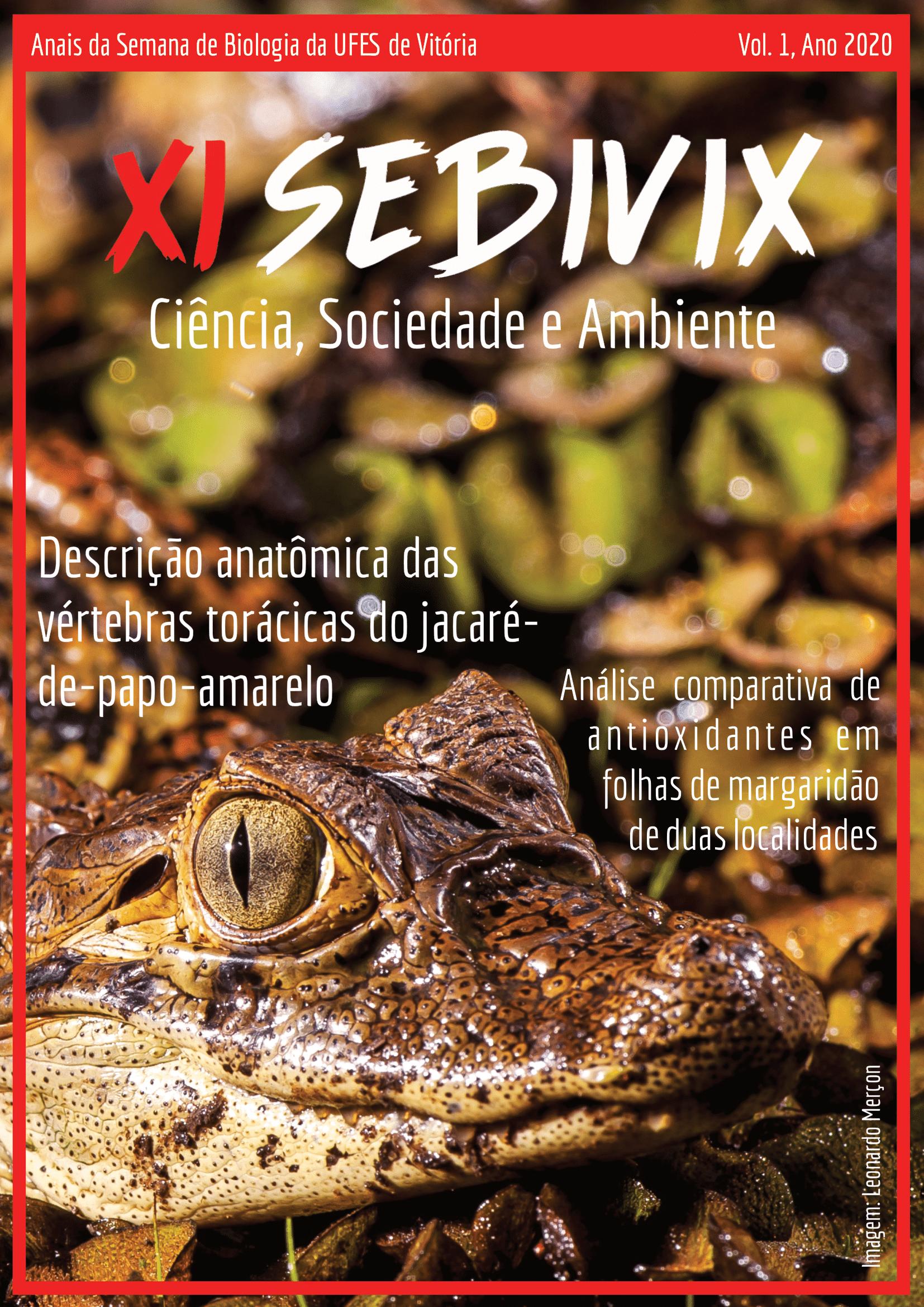 Anais da Semana de Biologia da UFES de Vitória vol. 1 (2019) Imagem: Leonardo Merçon (Instituto Últimos Refúgios)